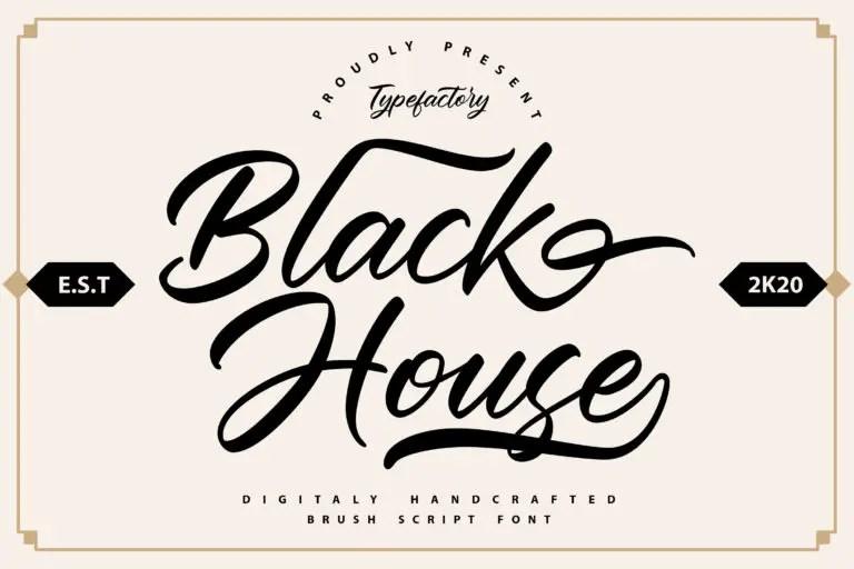 Black House Script Font -1