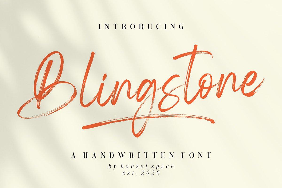 Blingstone - Handwritten Font -1