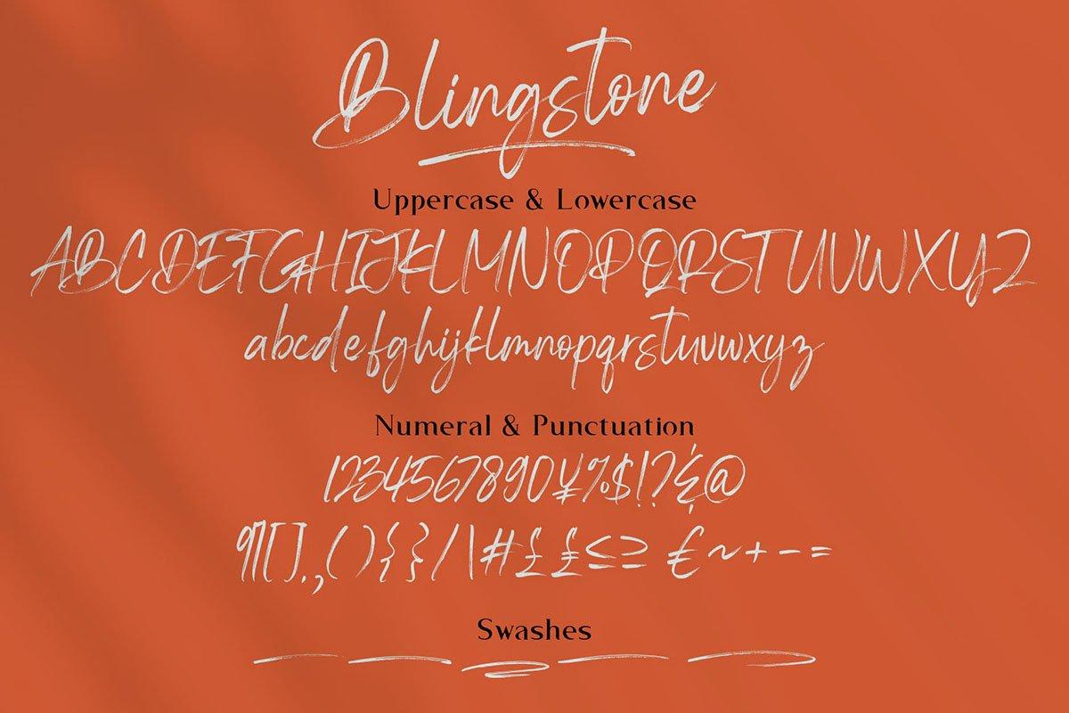 Blingstone - Handwritten Font -3