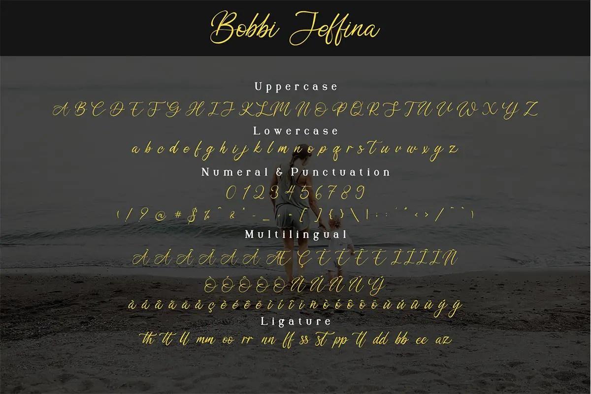 Bobbi Jeffina Calligraphy Font -2