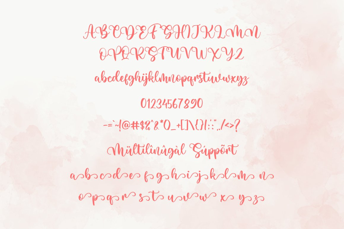 Bright Holiday Script Calligraphy Font -3