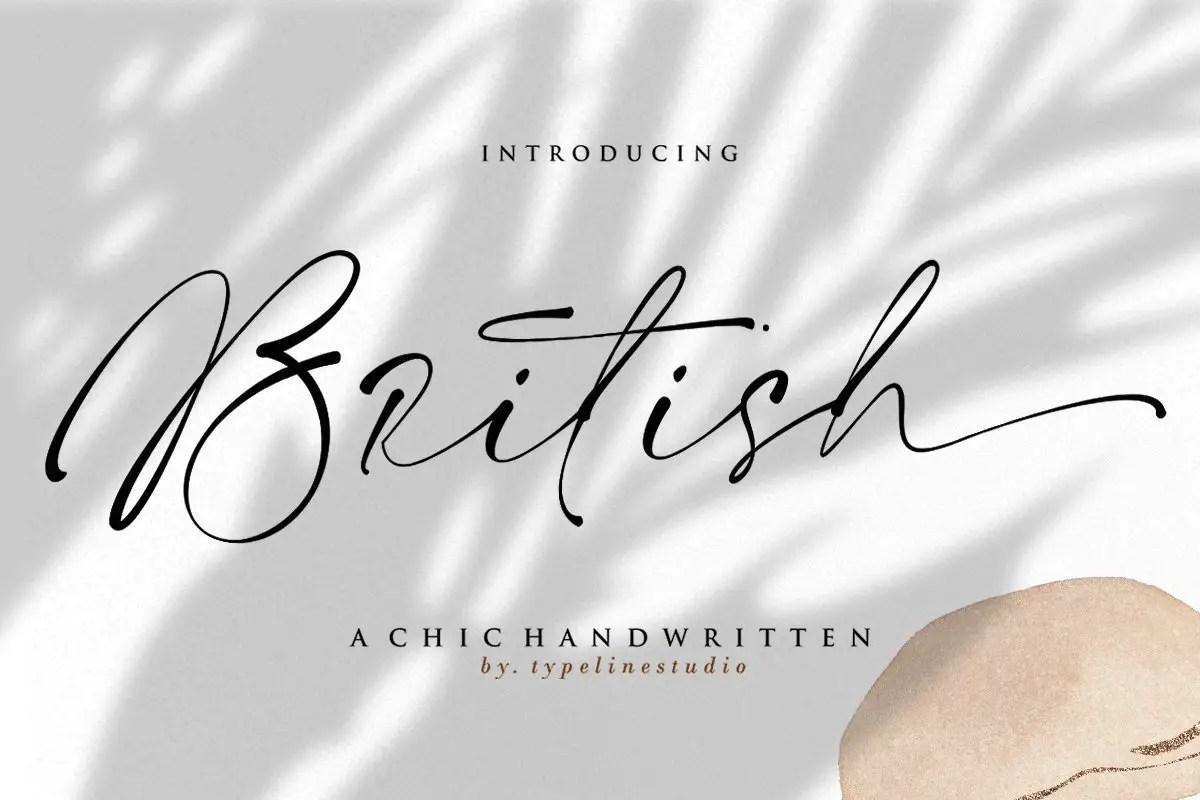 British Script Handwritten Font -1