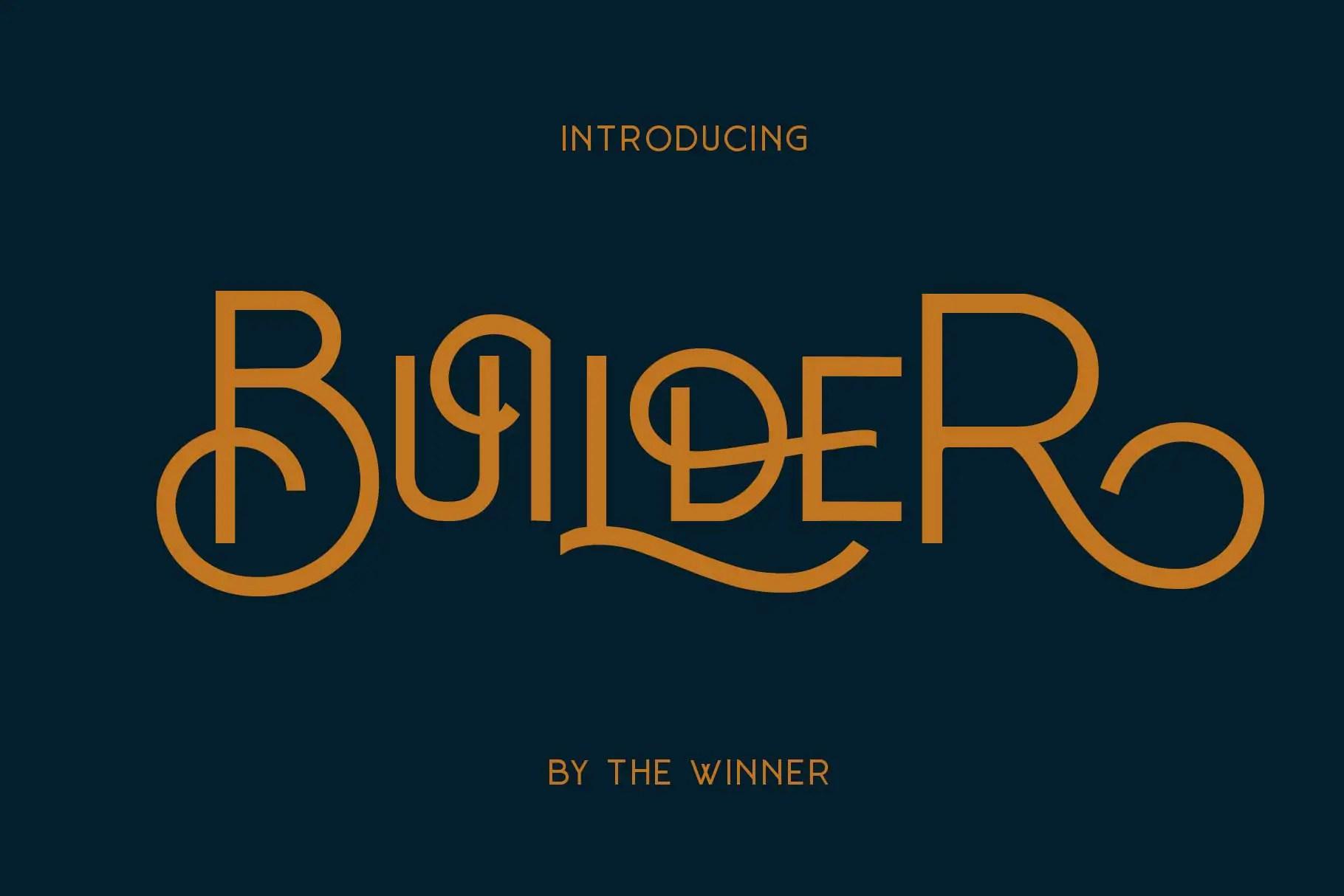 Builder Display Font -1