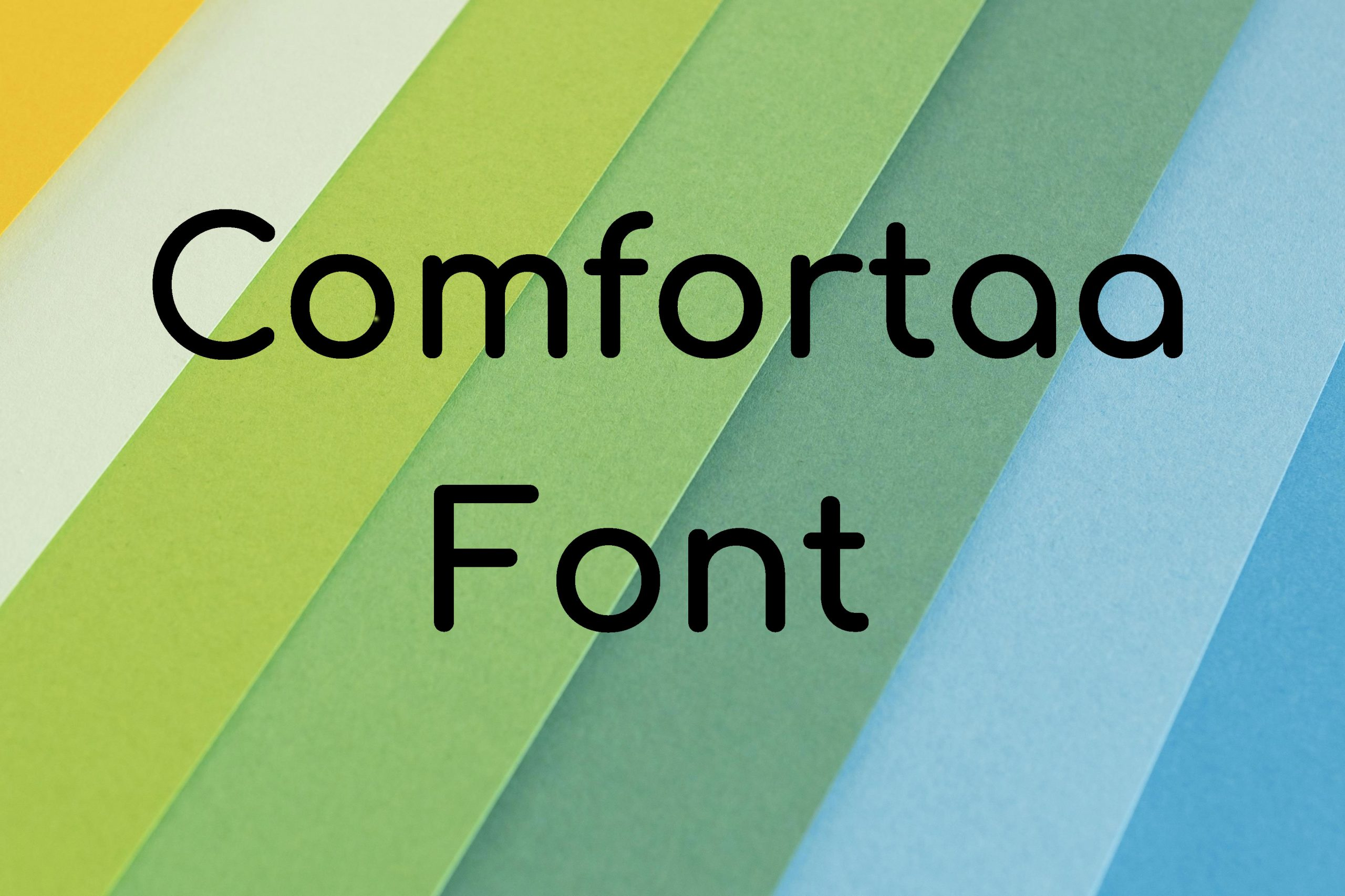 Comfortaa Sans serif Font -1