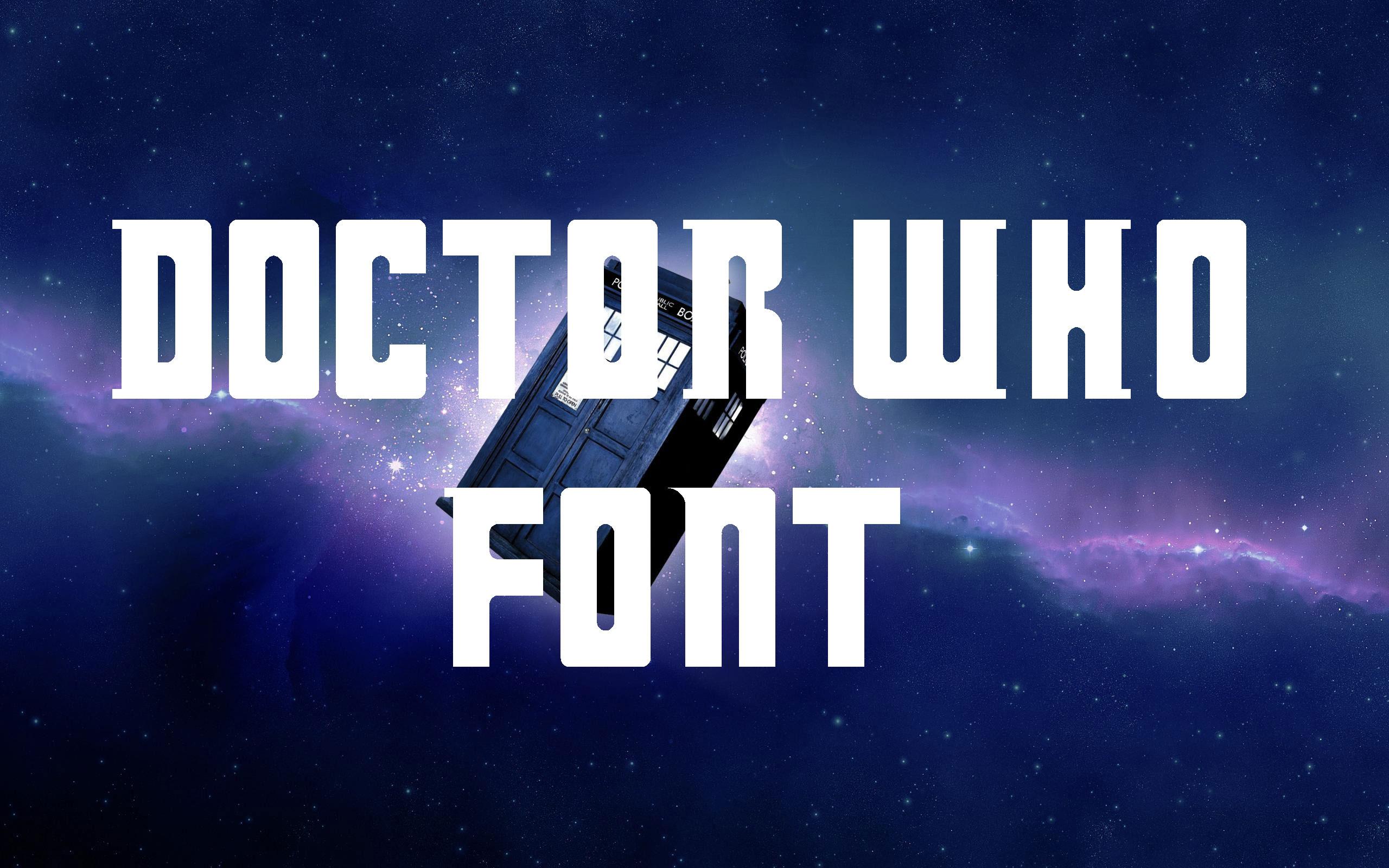 Doctor Who Fancy Font -1