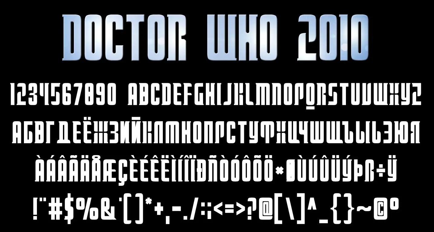 Doctor Who Fancy Font -2