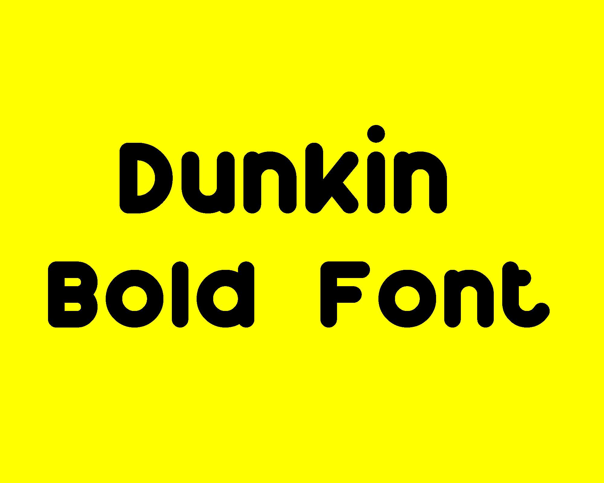 Dunkin Basic Font Free -1