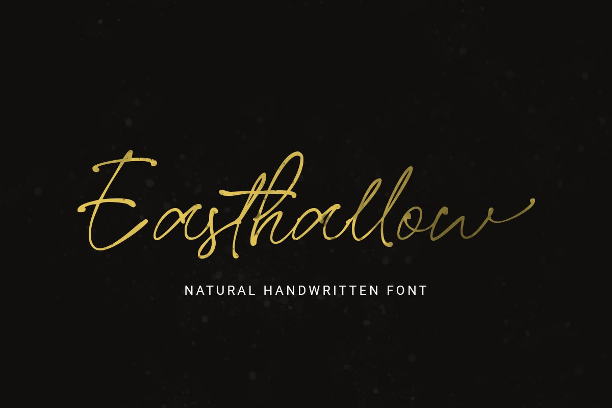 Easthallow Natural Handwritten Font -1