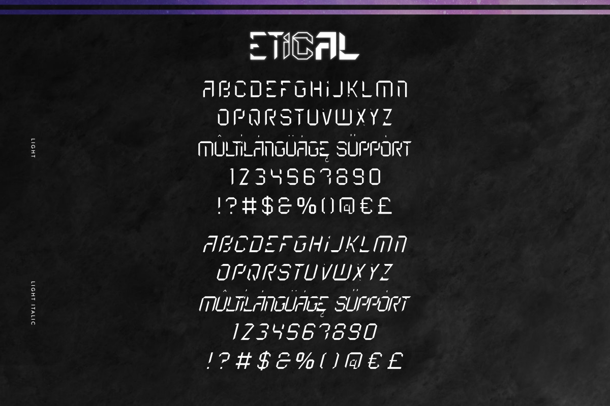 Etical Display Font -3