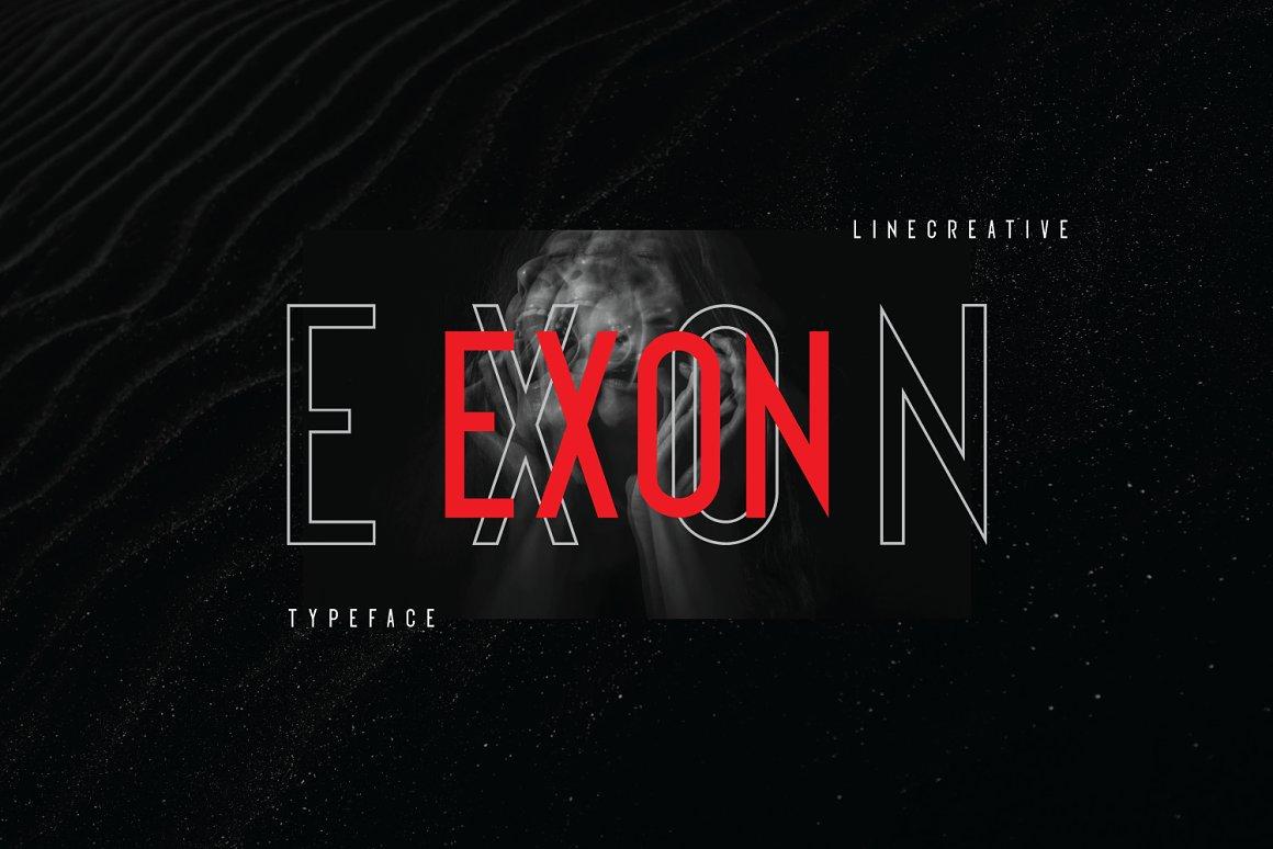 Exon Modern Sans Serif Typeface -1