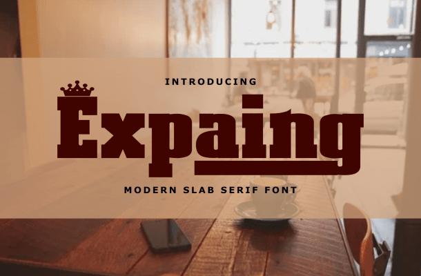 Expaing Font