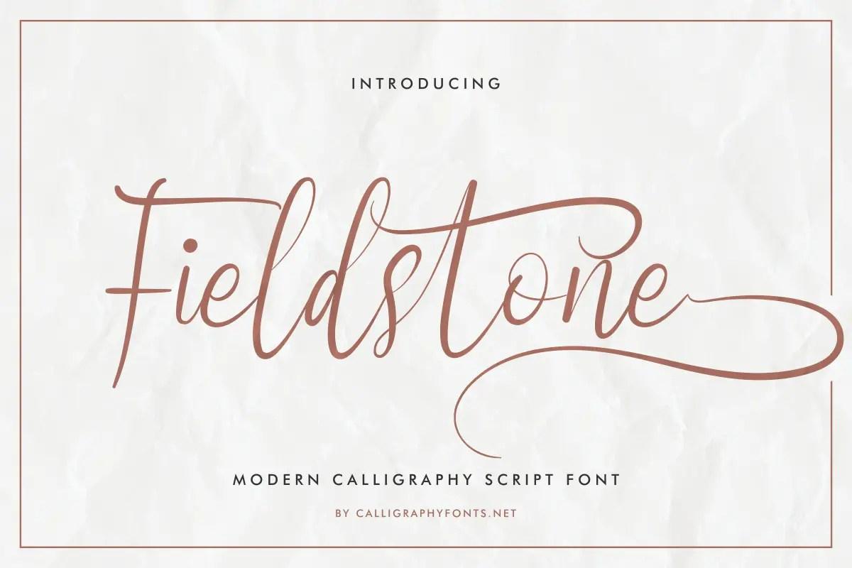 Fieldstone Brush Calligraphy Font -1