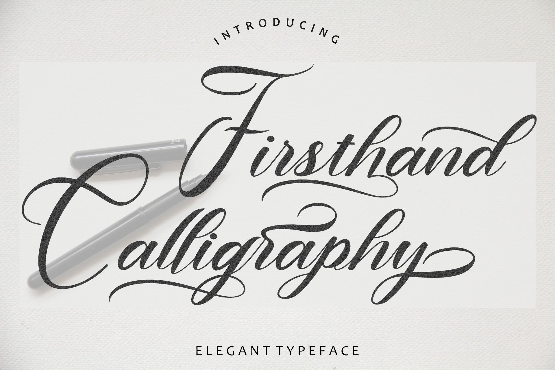 Firsthand Calligraphy Font -1