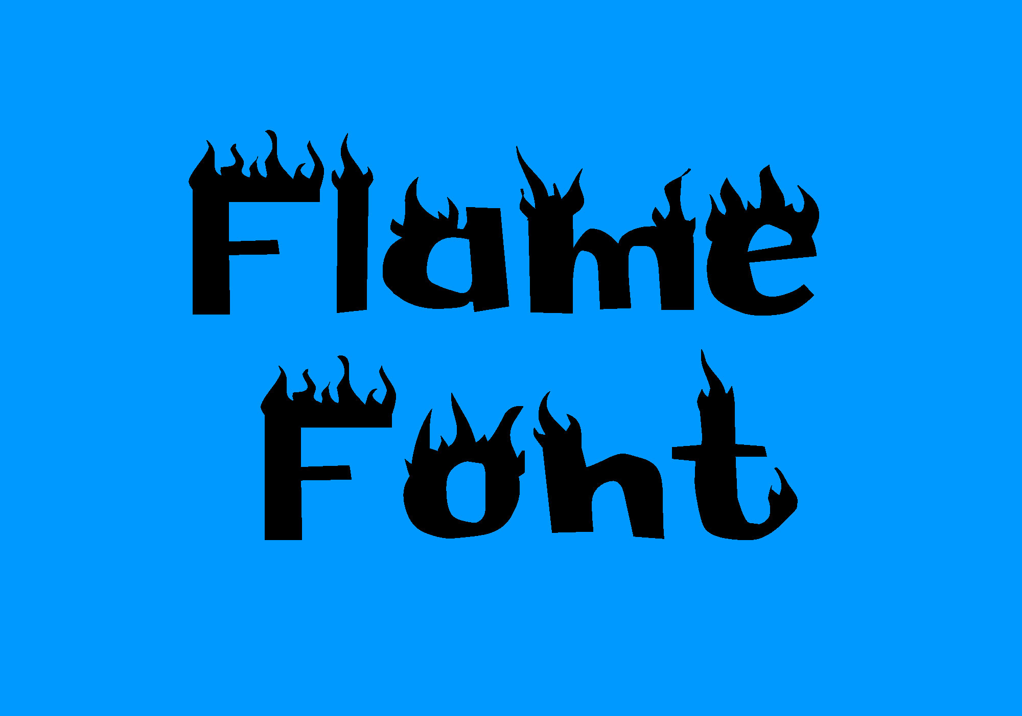 Flame Fire Ice Font -1