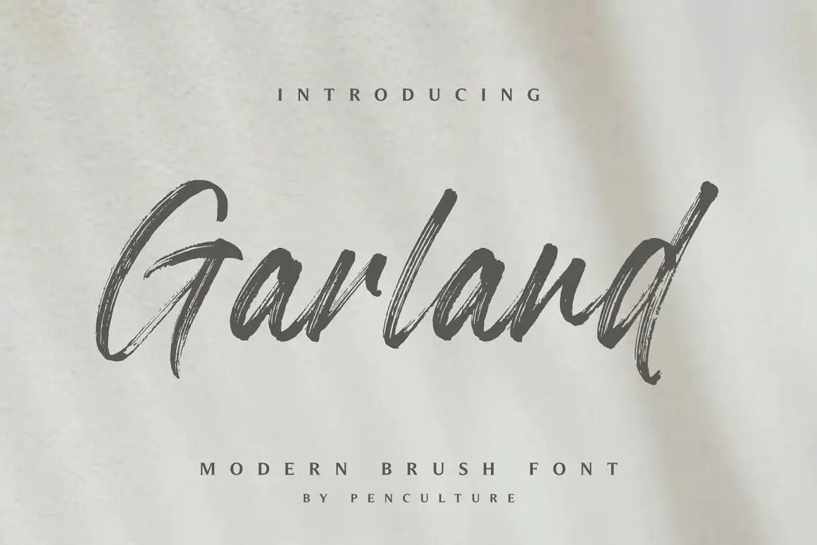 Garland Modern Brush Font -1