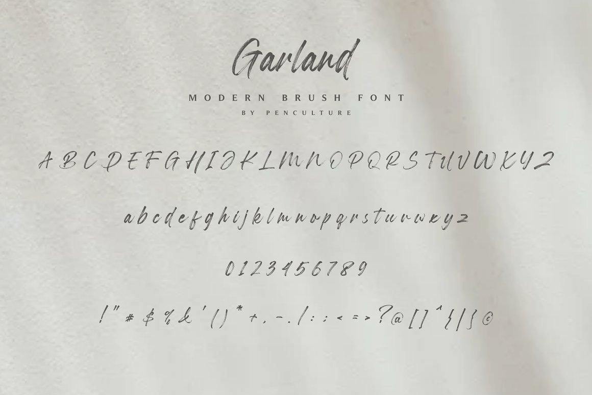 Garland Modern Brush Font -3