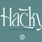 Hacky Font