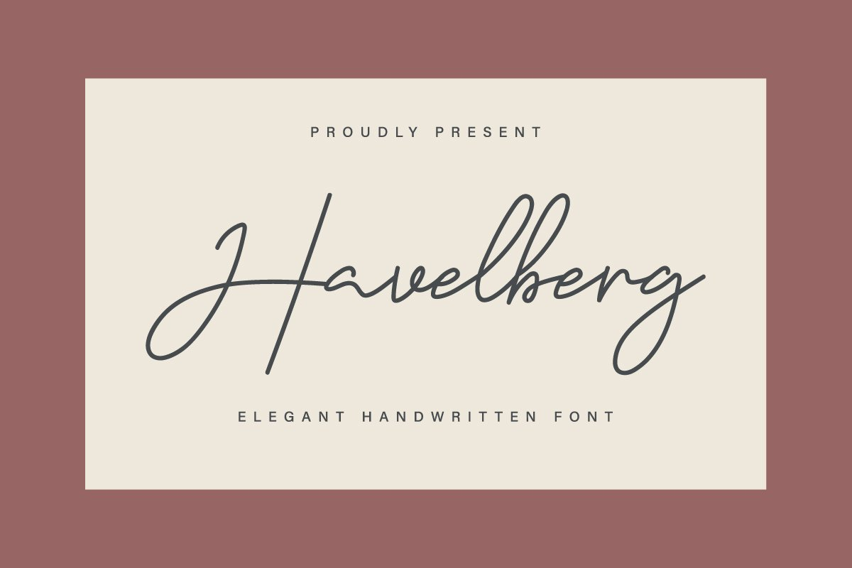 Havelberg Handwritten Script Font-1
