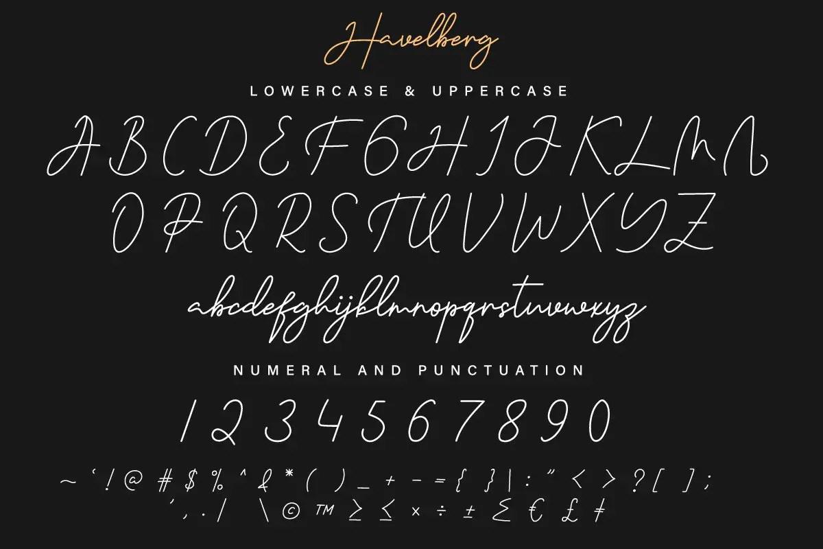 Havelberg Handwritten Script Font-3