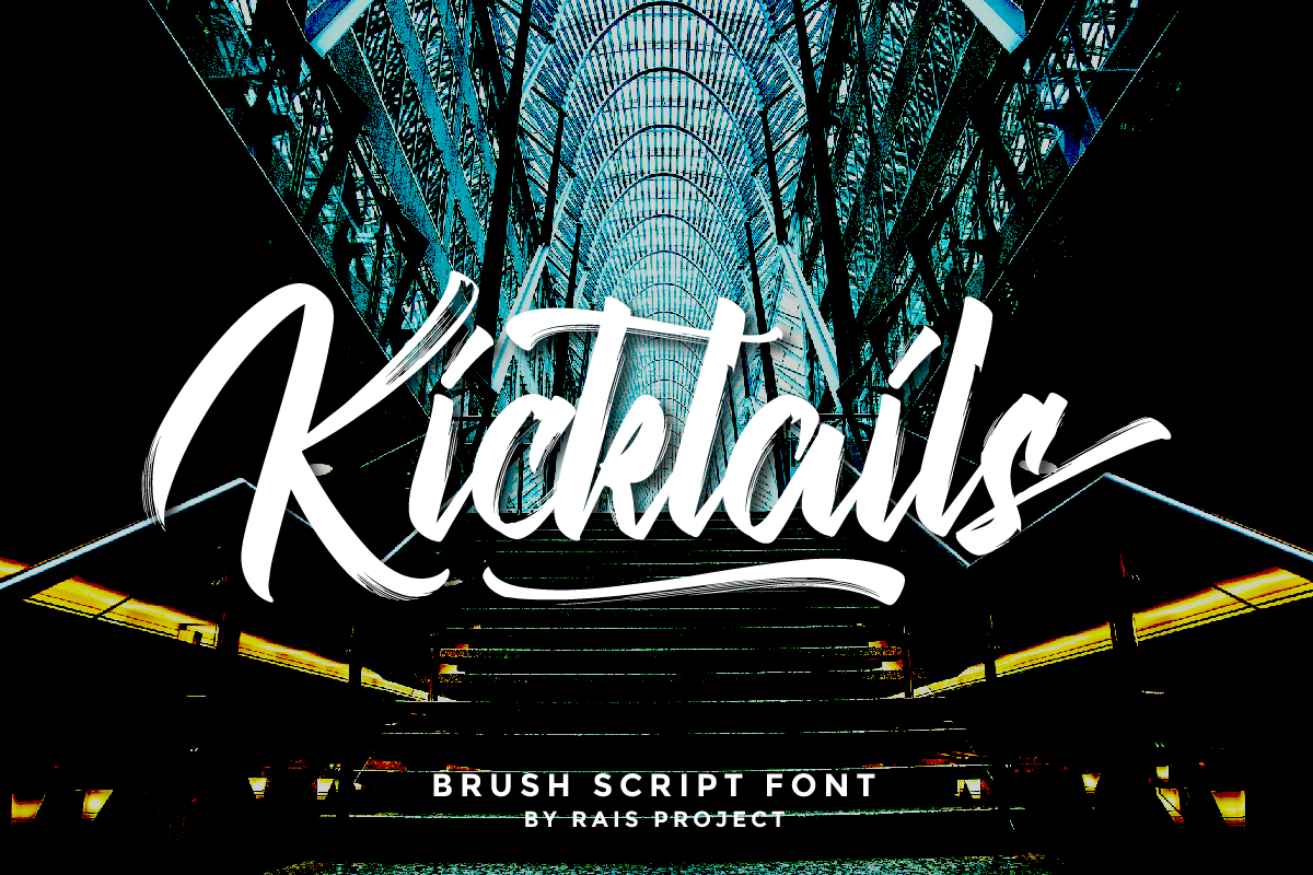 Kicktails Script Brush Font -1