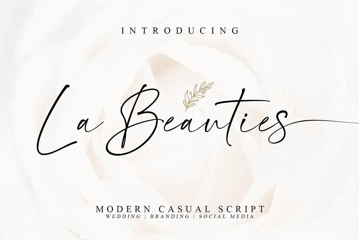 La Beauties Casual Handwritten Font -1