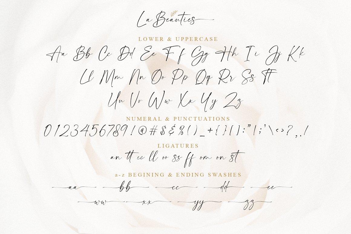 La Beauties Casual Handwritten Font -3