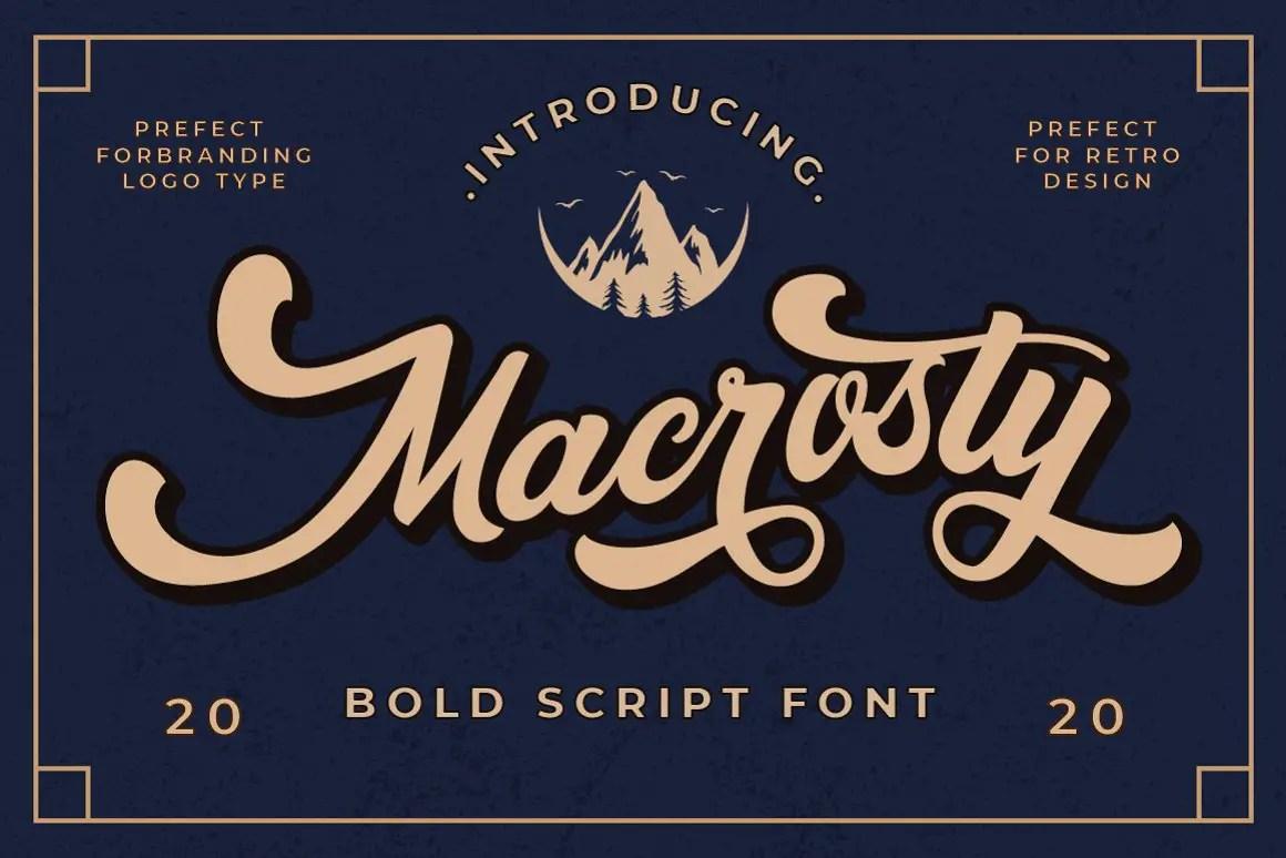 Macrosty Bold Script Font -1