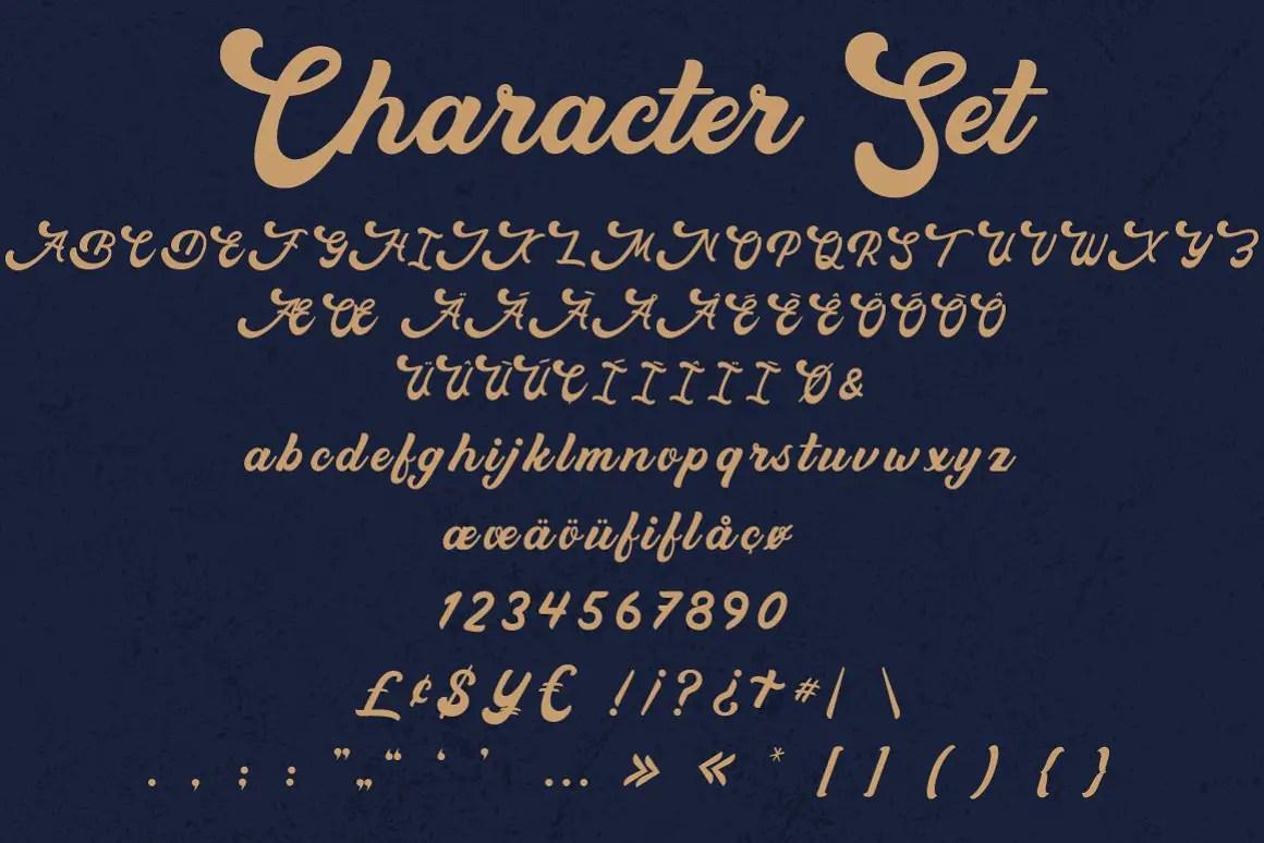 Macrosty Bold Script Font -3
