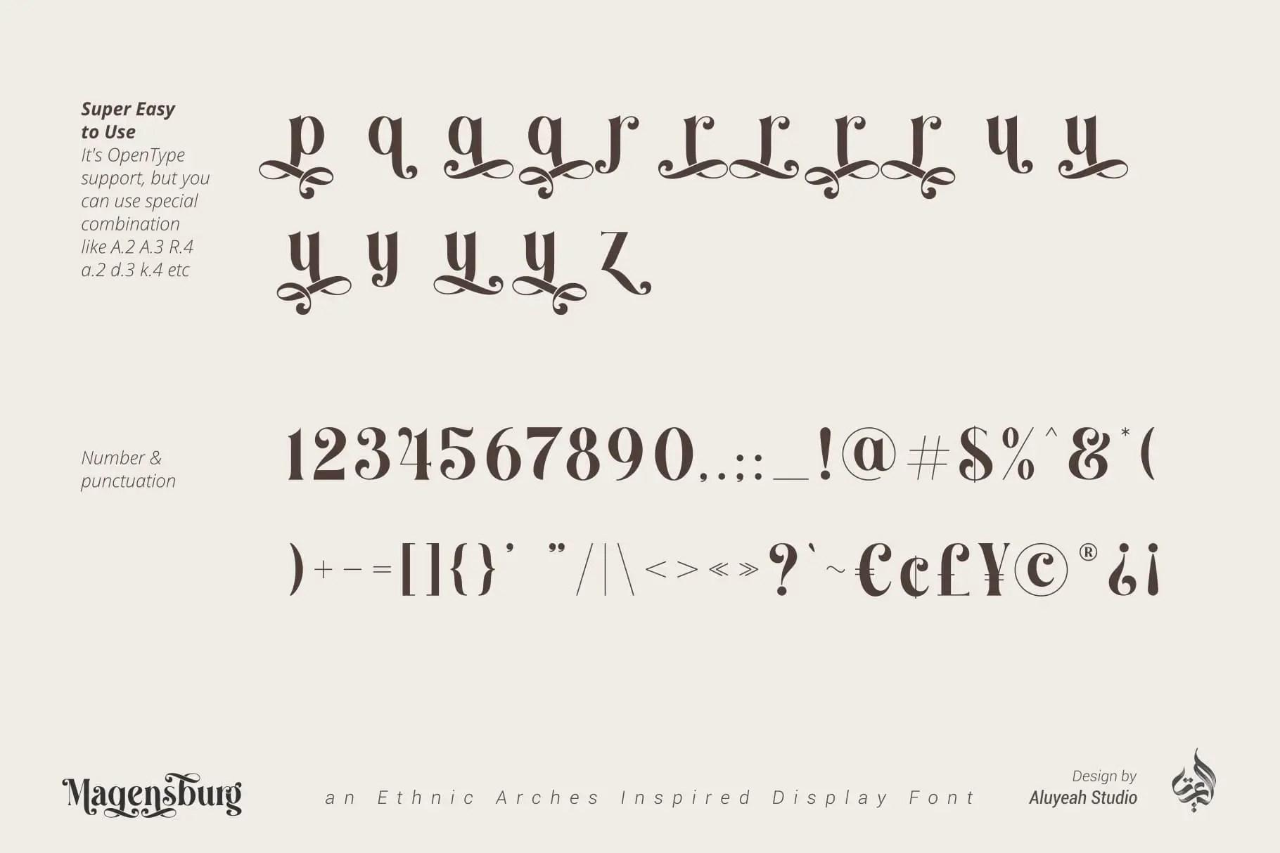 Magensburg Serif Font -3