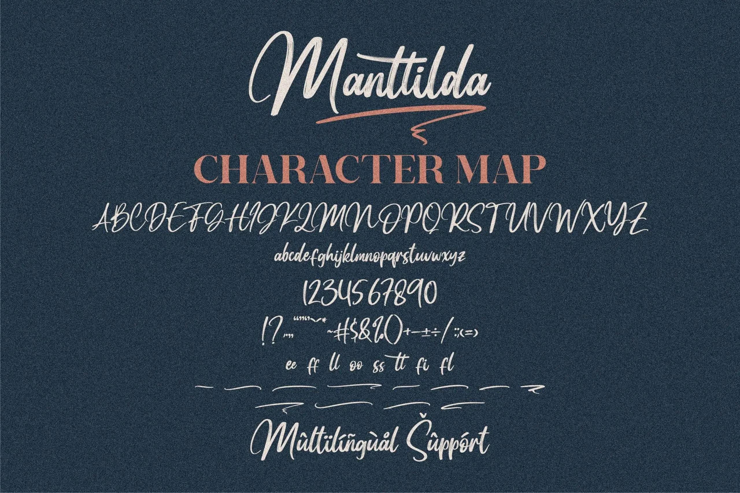 Manttilda Signature Brush Font -3