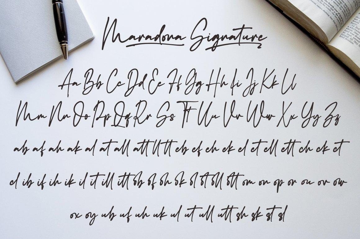 Maradona Signature Handwritten Font-3