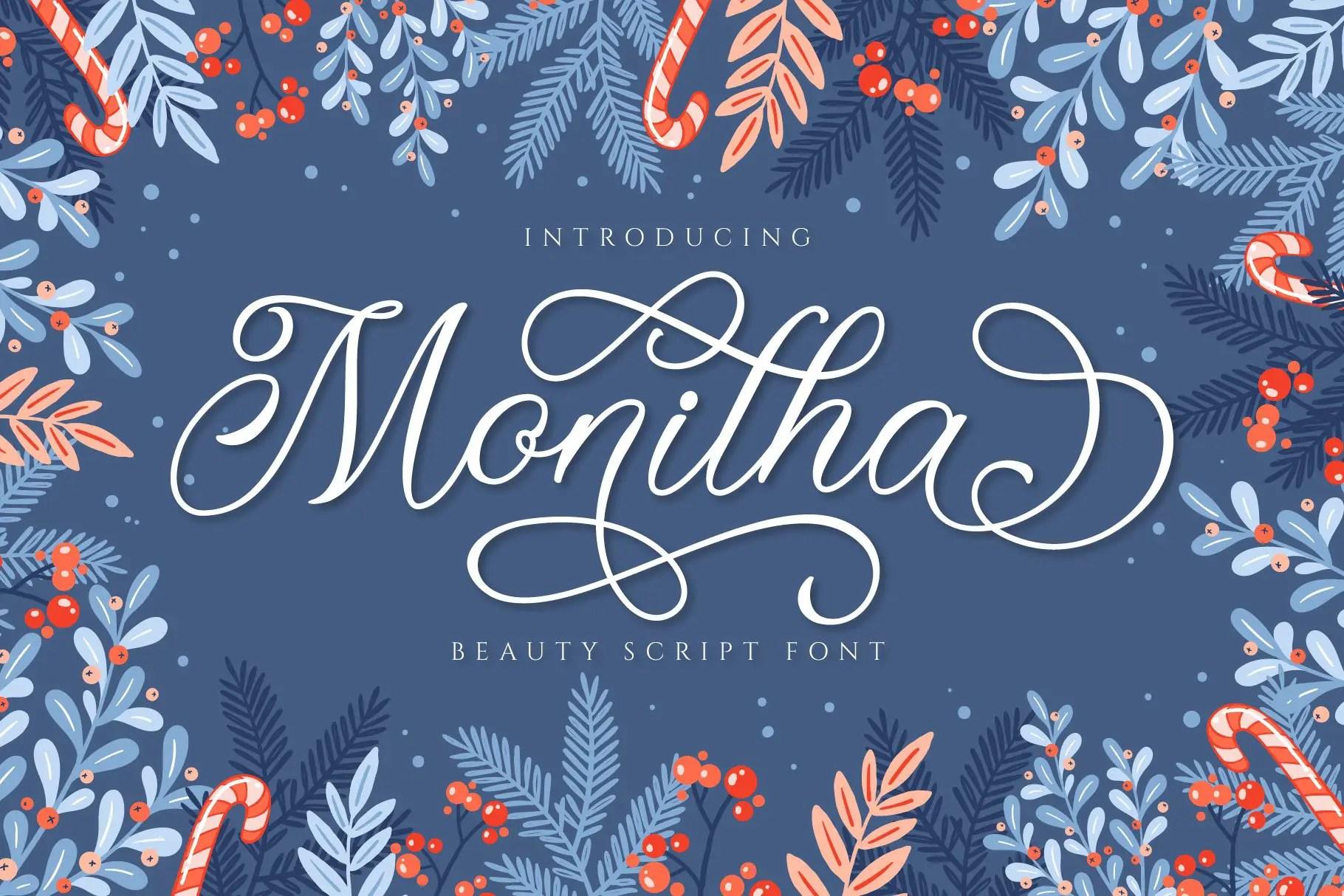 Monitha Beaty Script Font -1