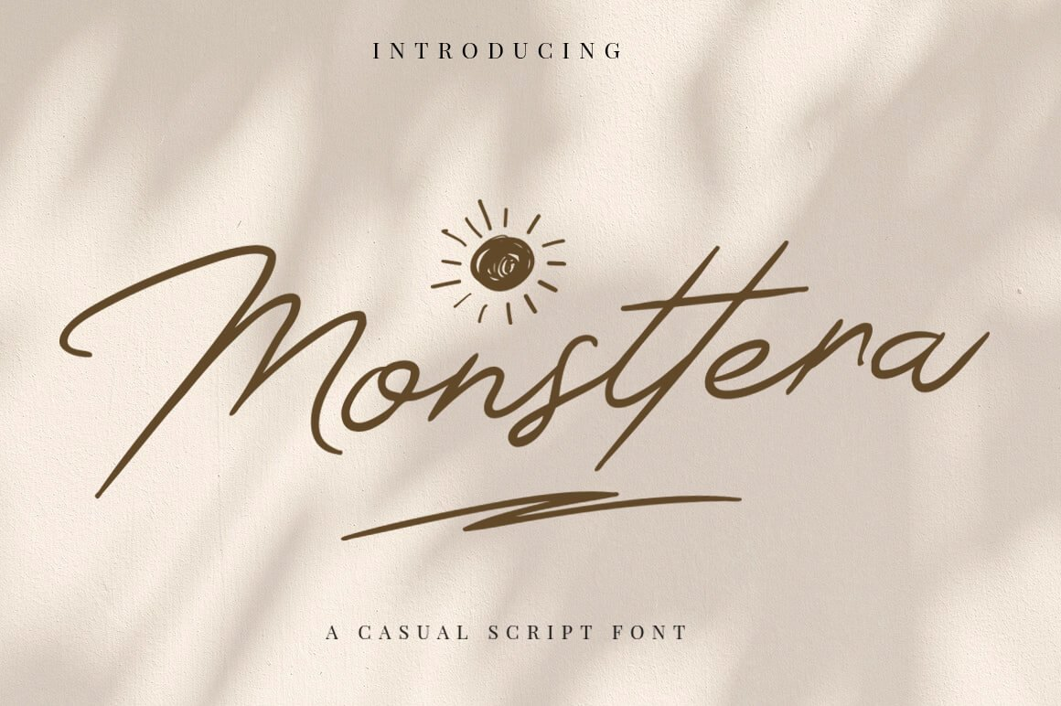 Monsttera Handwritten Font -1