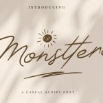 Monsttera Handwritten Font