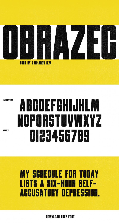 Obrazec Sans Serif Font -1