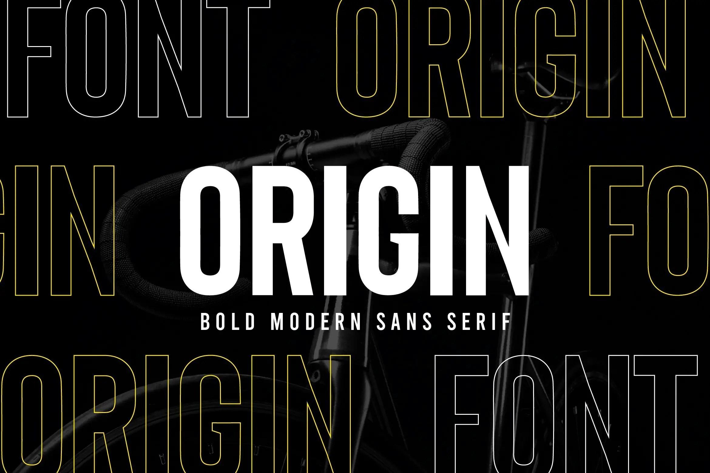 Origin Bold Retro Sans Serif Font -1