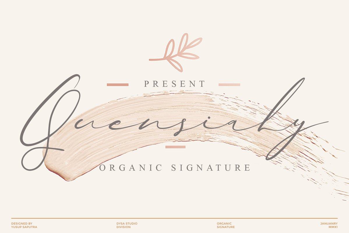 Quensialy Organic Signature Font -1