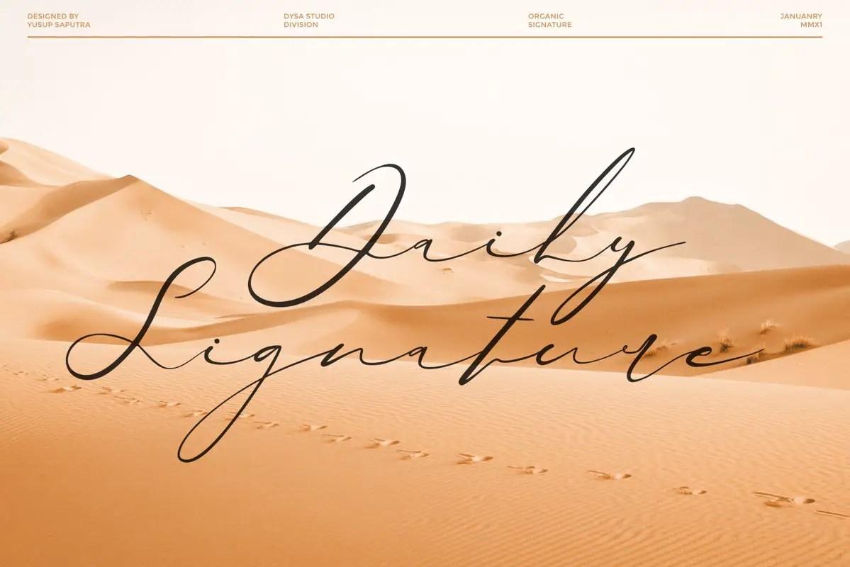 Quensialy Organic Signature Font -2