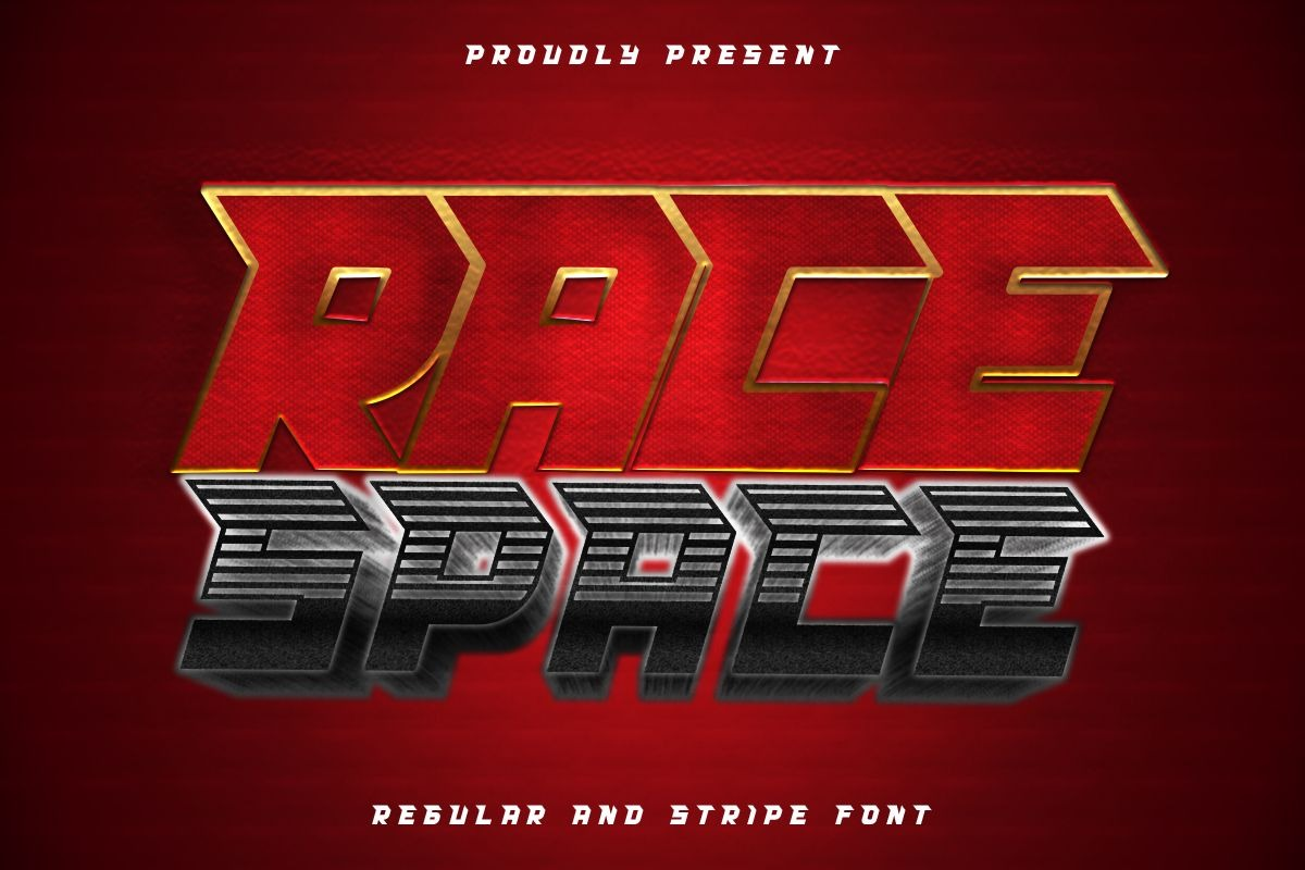 Race Space Display Font -1
