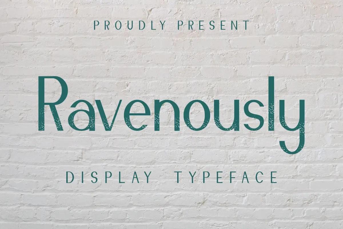 Ravenously Sans Serif Font -1
