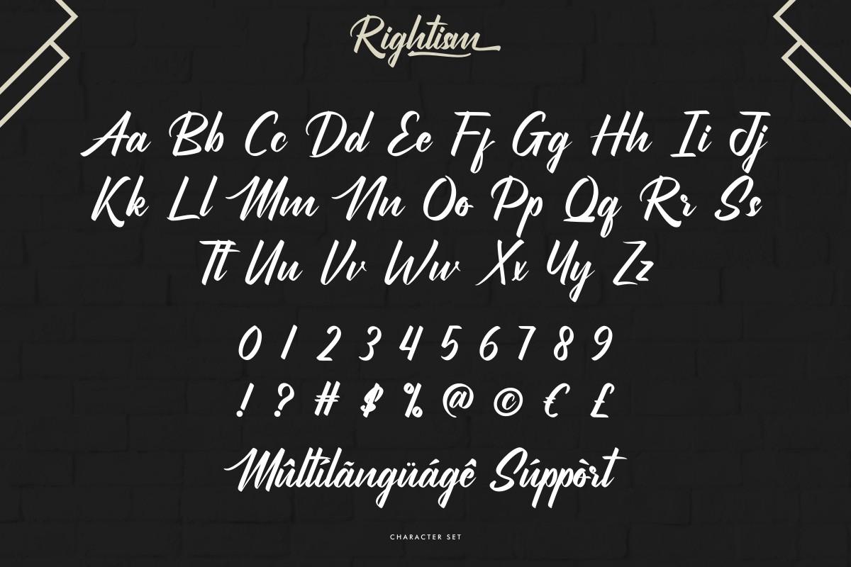 Rightism Stylish Bold Script Font -3