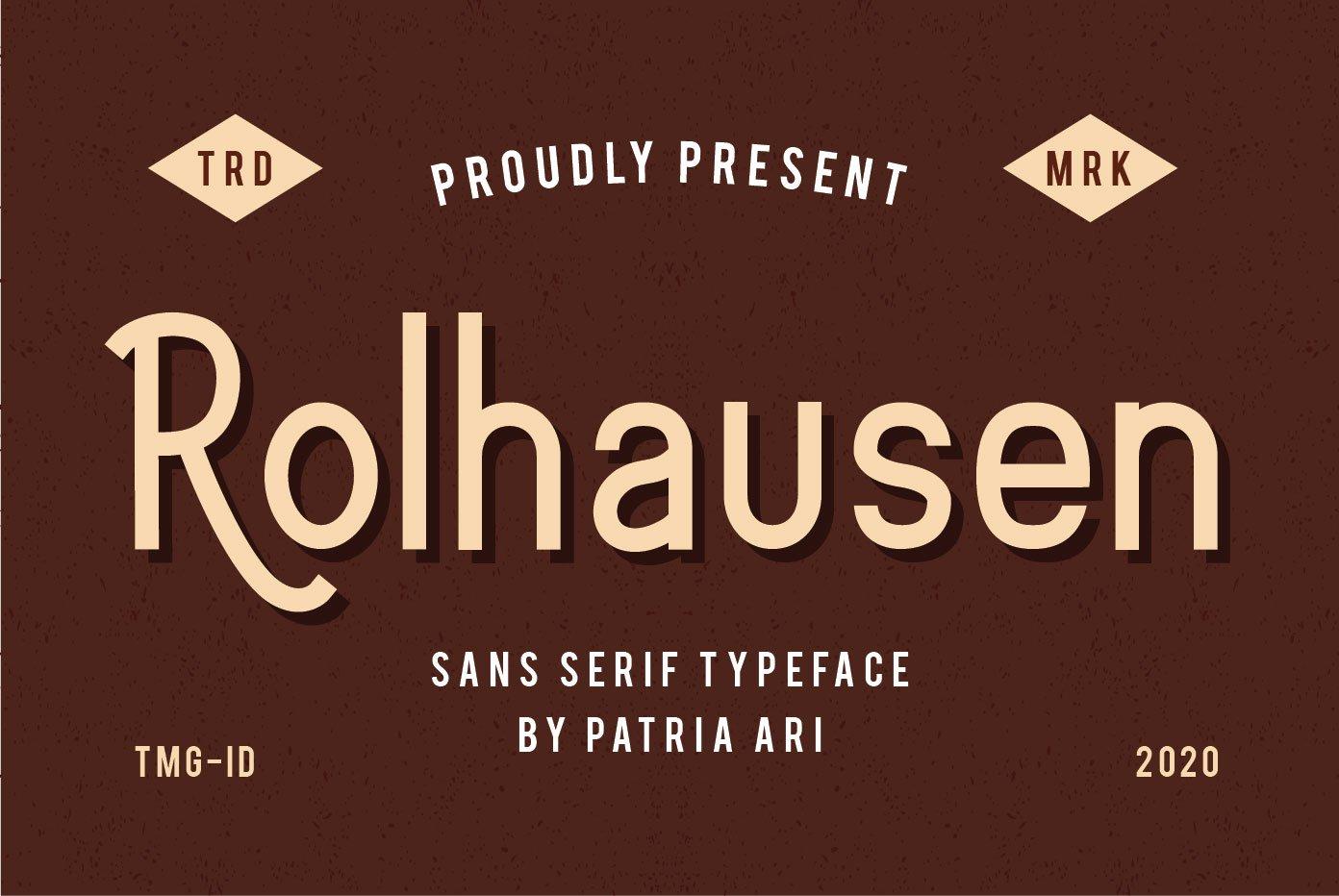 Rolhausen Sans Serif Typeface -1