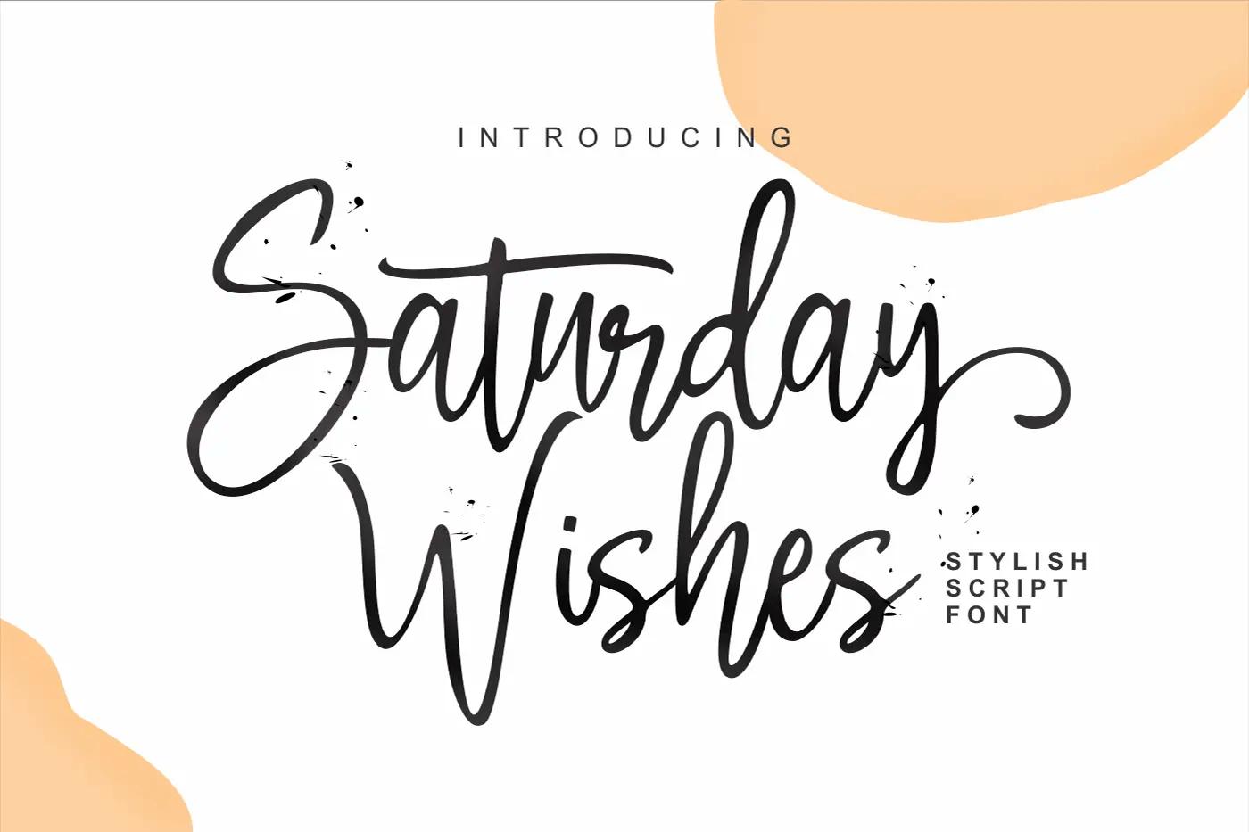 Saturday Wishes Stylish Handwritten Font -1