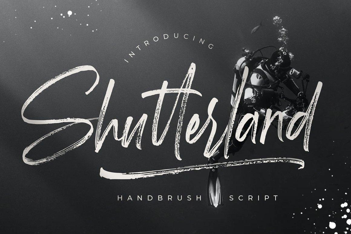 Shutterland Handbrush Script Font -1