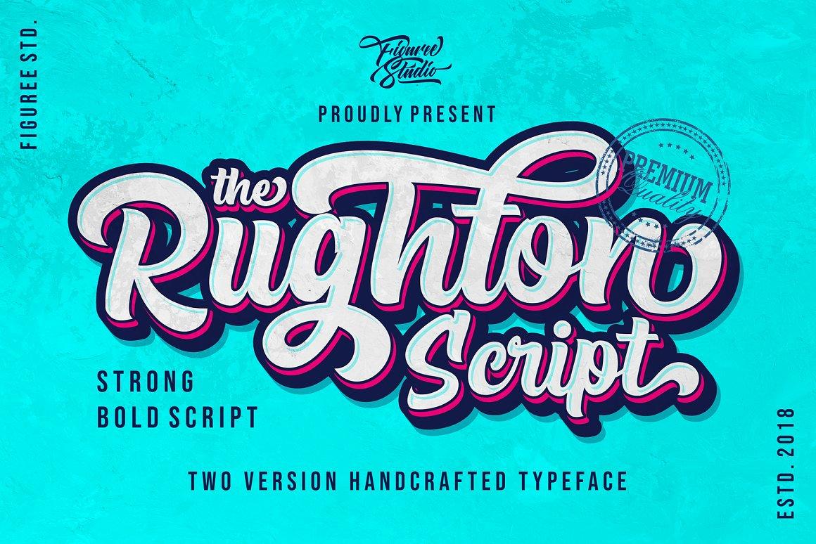 The Rughton Bold Script Font -1