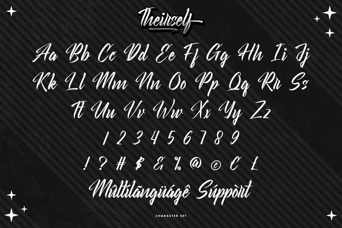 Theirself Modern Script Font -3