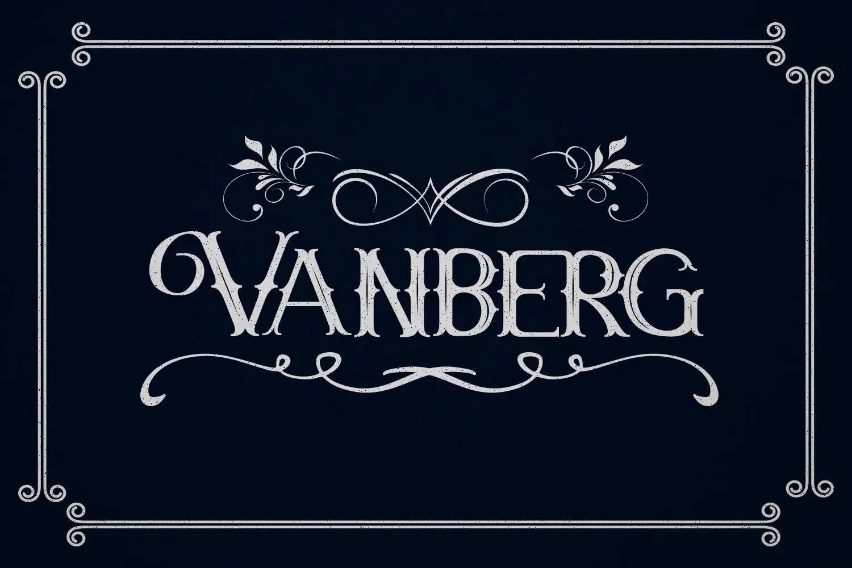 Vanberg Blackletter Font -1
