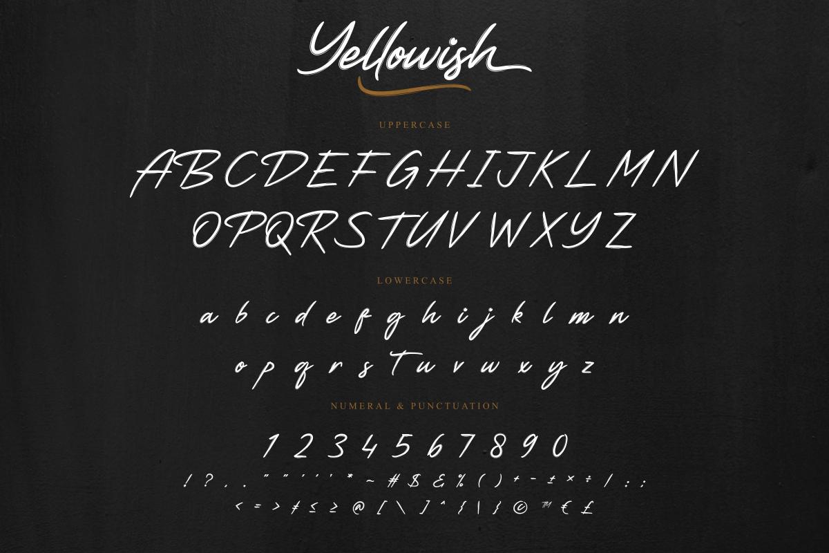 Yellowish Hand Brush Script Font -3