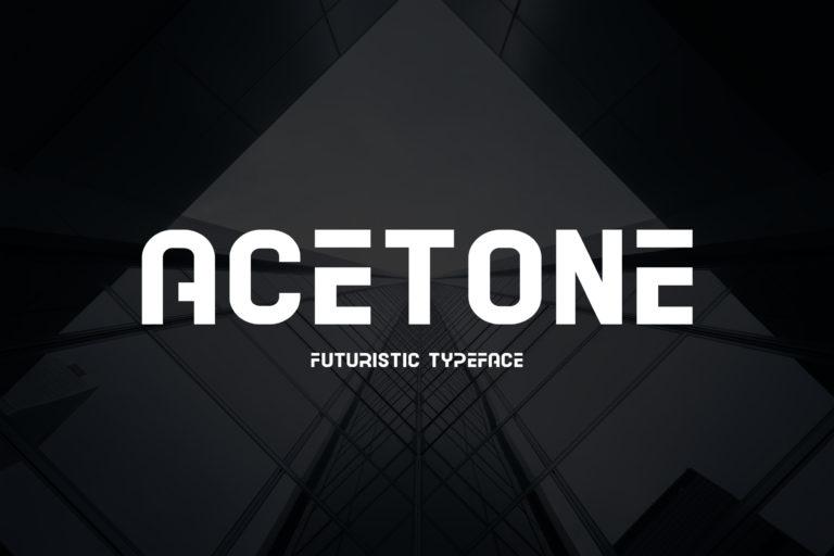 Acetone Futuristic Sans Display Font -1