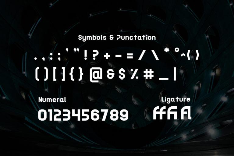 Acetone Futuristic Sans Display Font -3